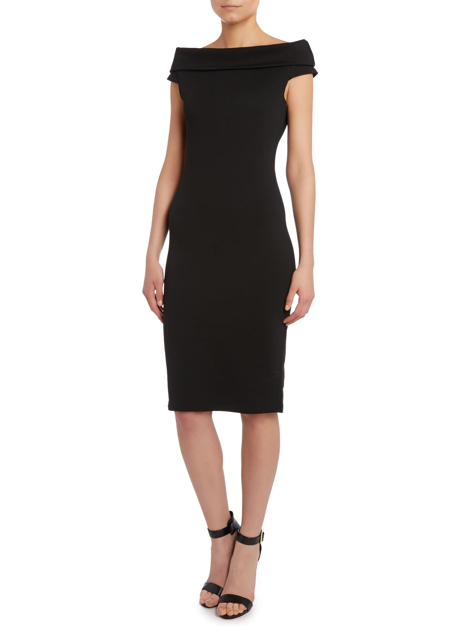 Bardot neck sleeveless dress