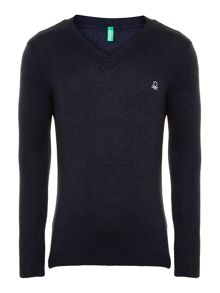 Boy`s classic v neck jumper