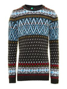 Boy`s fairisle knitted jumper
