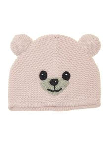 Baby teddy bear knitted hat