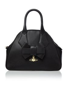 Bow black large dome bag