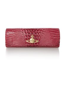 Chancery pink chain clutch bag