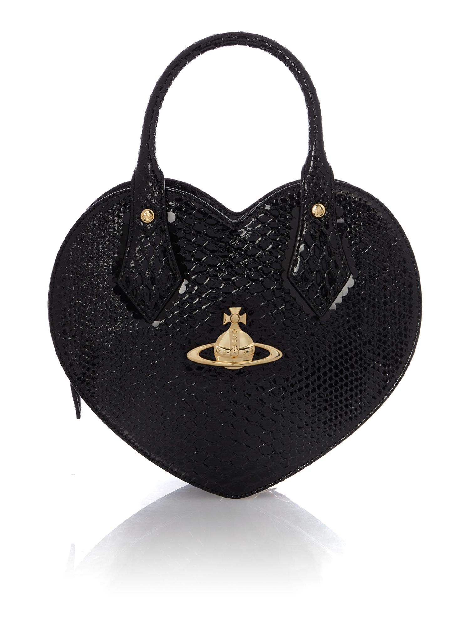 Frilly Snake black heart dome bag