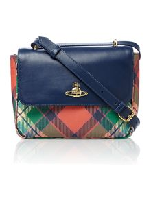Conduit multi coloured small cross body bag