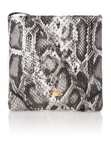 Frilly Snake grey cross body bag