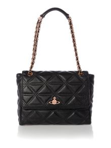 Sharlenemania black large shoulder bag