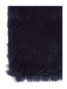 Faux fur slot through