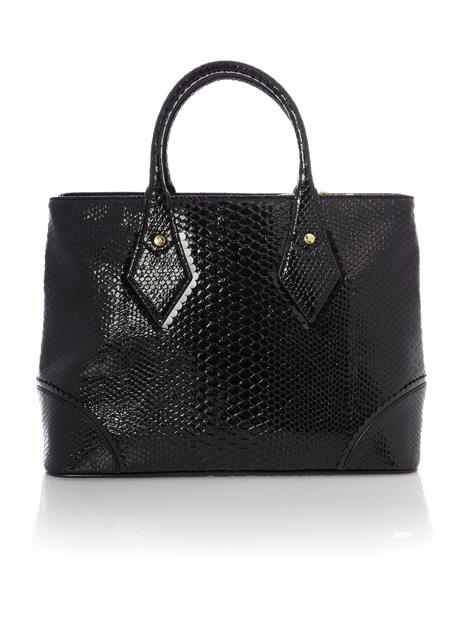 Frilly Snake black tote bag