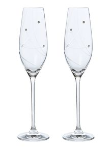Linea Angelina Swarovski flutes set of 2