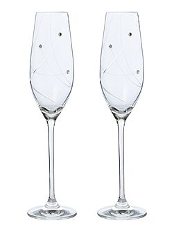 Angelina Swarovski flutes set of 2