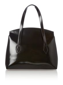 Monaco black large shoulder bag