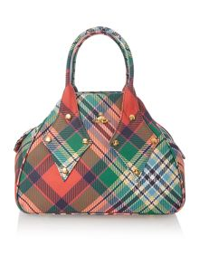 Derby multi coloured large dome bag