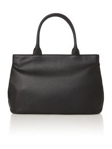 Bow black large tote bag