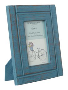 Wooden frame teal 4x6