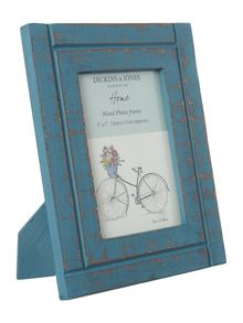 Wooden frame teal 5x7