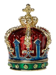 India Jane Coronation jewelled crown box
