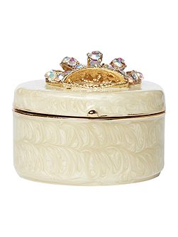 Coronet crown box in ivory
