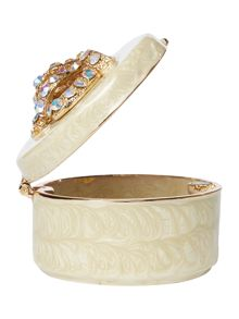 India Jane Coronet crown box in ivory