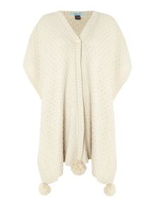 Dickins & Jones Orb Knit Pom Pom Poncho