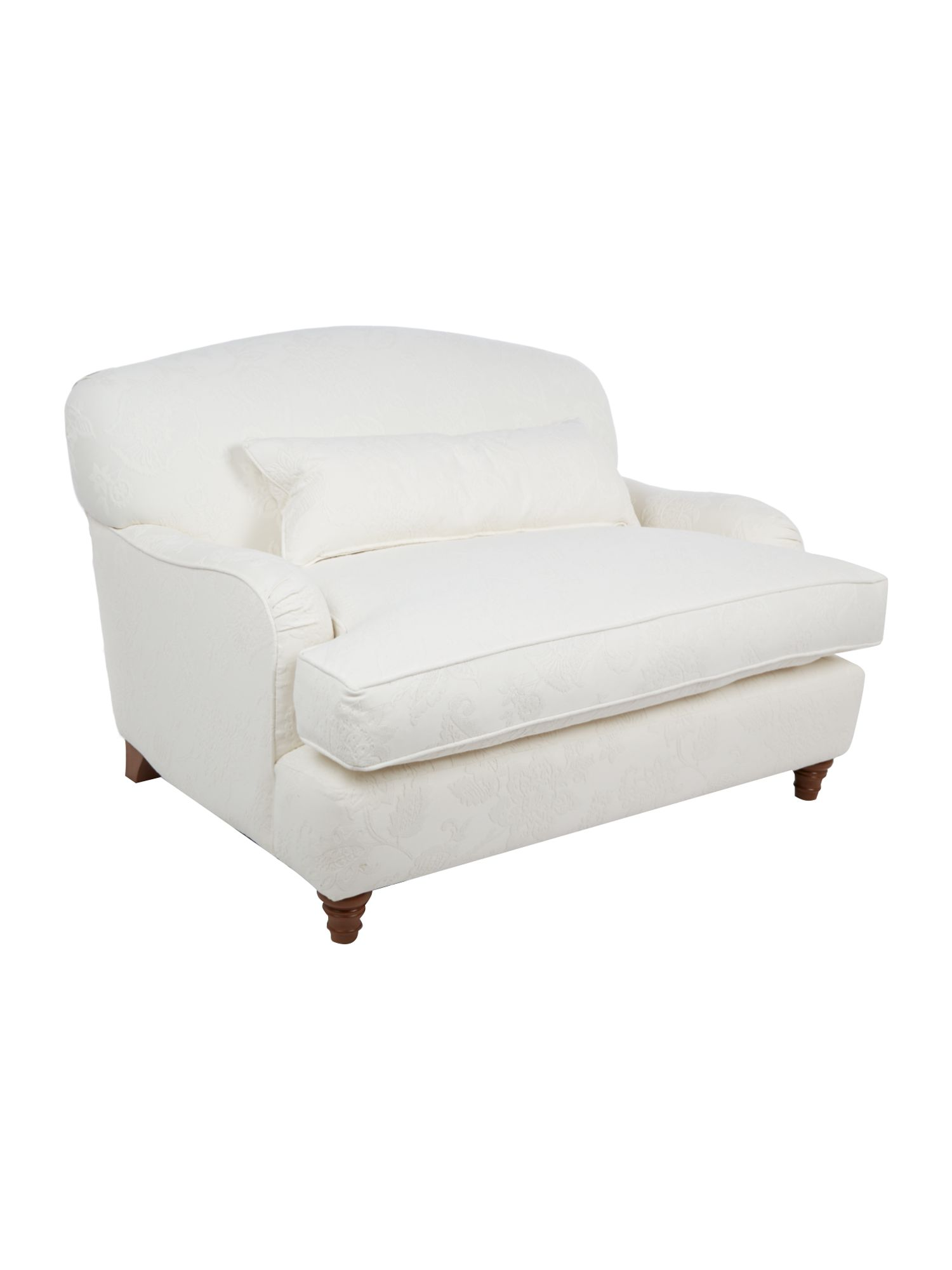 Shabby Chic Chelsea white foral textured cotton love seat