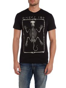T-agid skeleton print t shirt