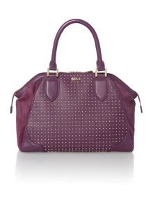 Purple blake bowler handbag