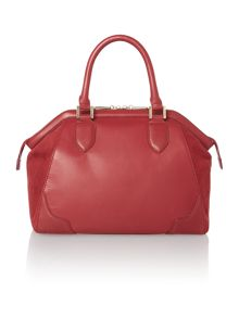 Red blake bowler handbag