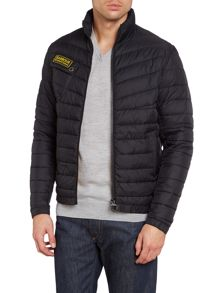 Chain international quilted baffle jacket