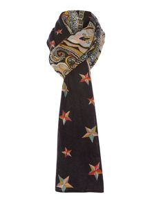 Stars paisley diamond long scarf