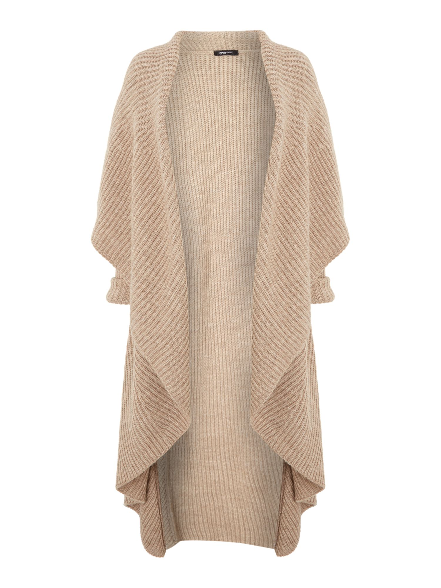 Chunky ribbed long cardigan