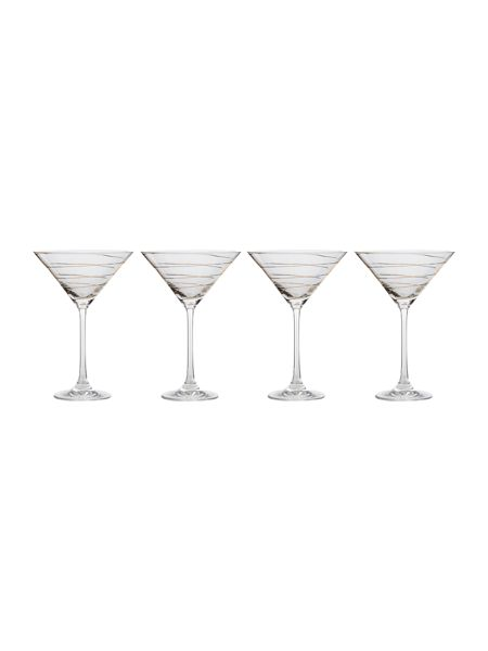 Pied a Terre Gold spiral martini set of 4