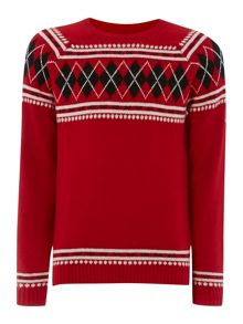 K-Arsha fairisle crew neck jumper