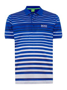Mercerised stripe golf polo