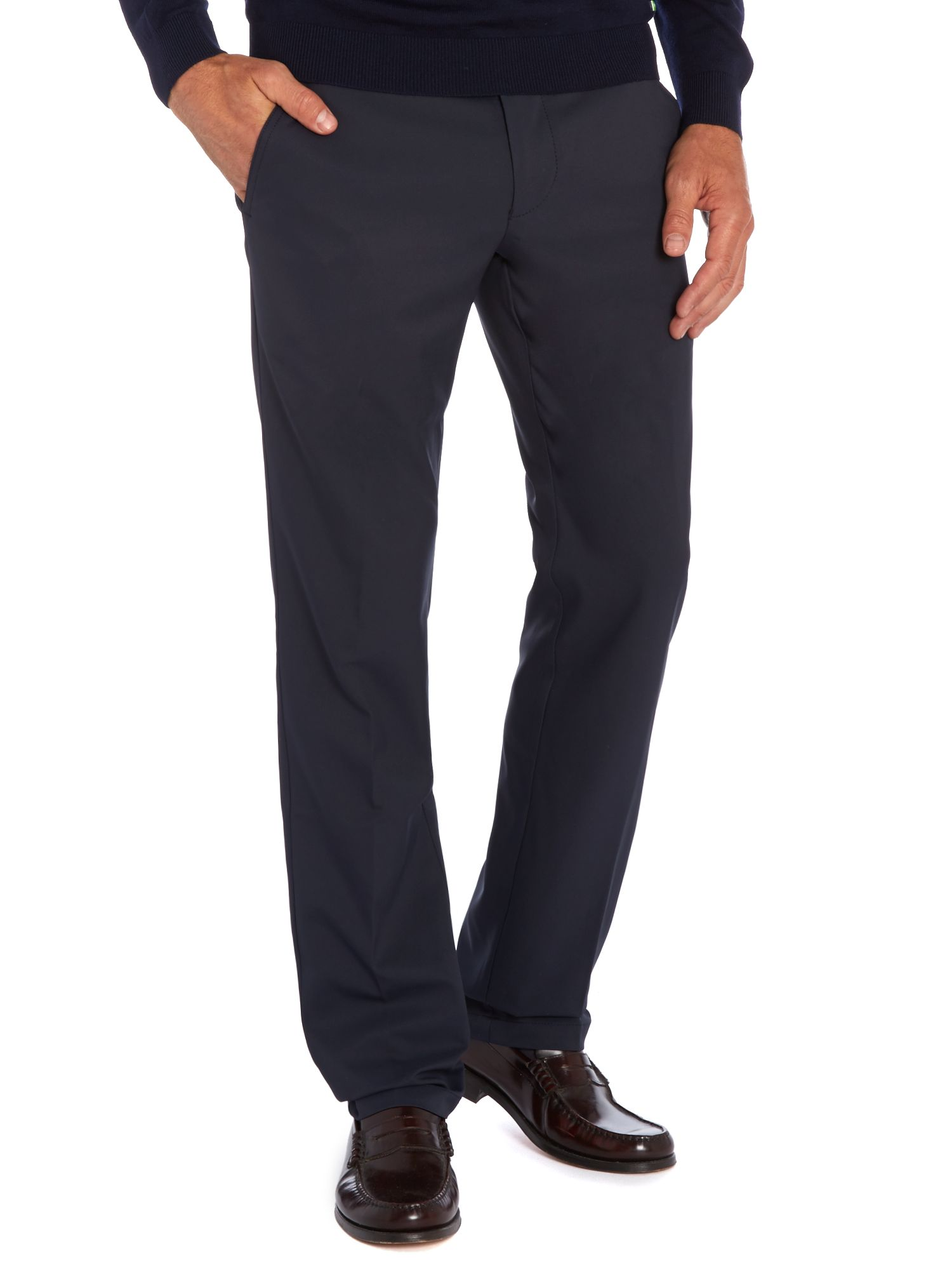 Button front golf trousers