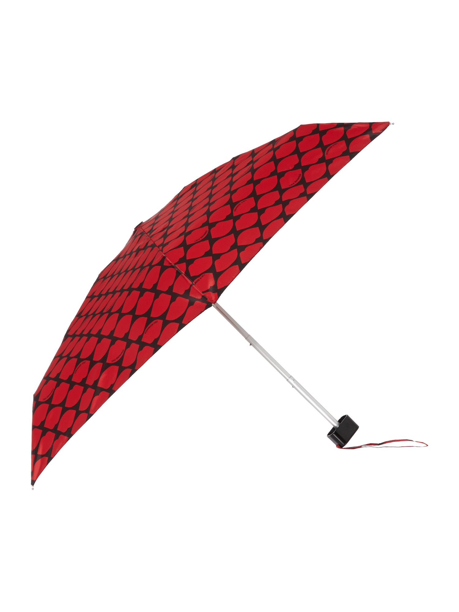 Red lips grid tiny umbrella