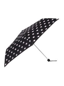 Lips print lined superslim umbrella