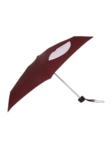 Lulu Guinness Abstract lips tiny umbrella