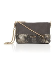 Febe python grey snake shoulder bag