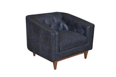 Living by Christiane Lemieux George charcoal armchair