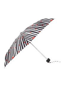 Cut out lips stripe tiny umbrella