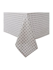 Silver spot tablecloth and 6 napkins