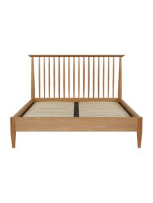 Hoxton 150cm spindle light oak bedstead