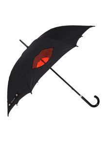 Lulu Guinness Cut out lips kensington umbrella