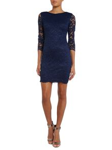 Lace Bodycon 3/4 sleeve dress