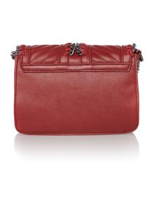 Christal red small chain cross body bag