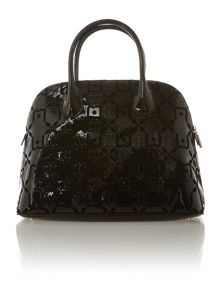 Melaine black dome cross body bag