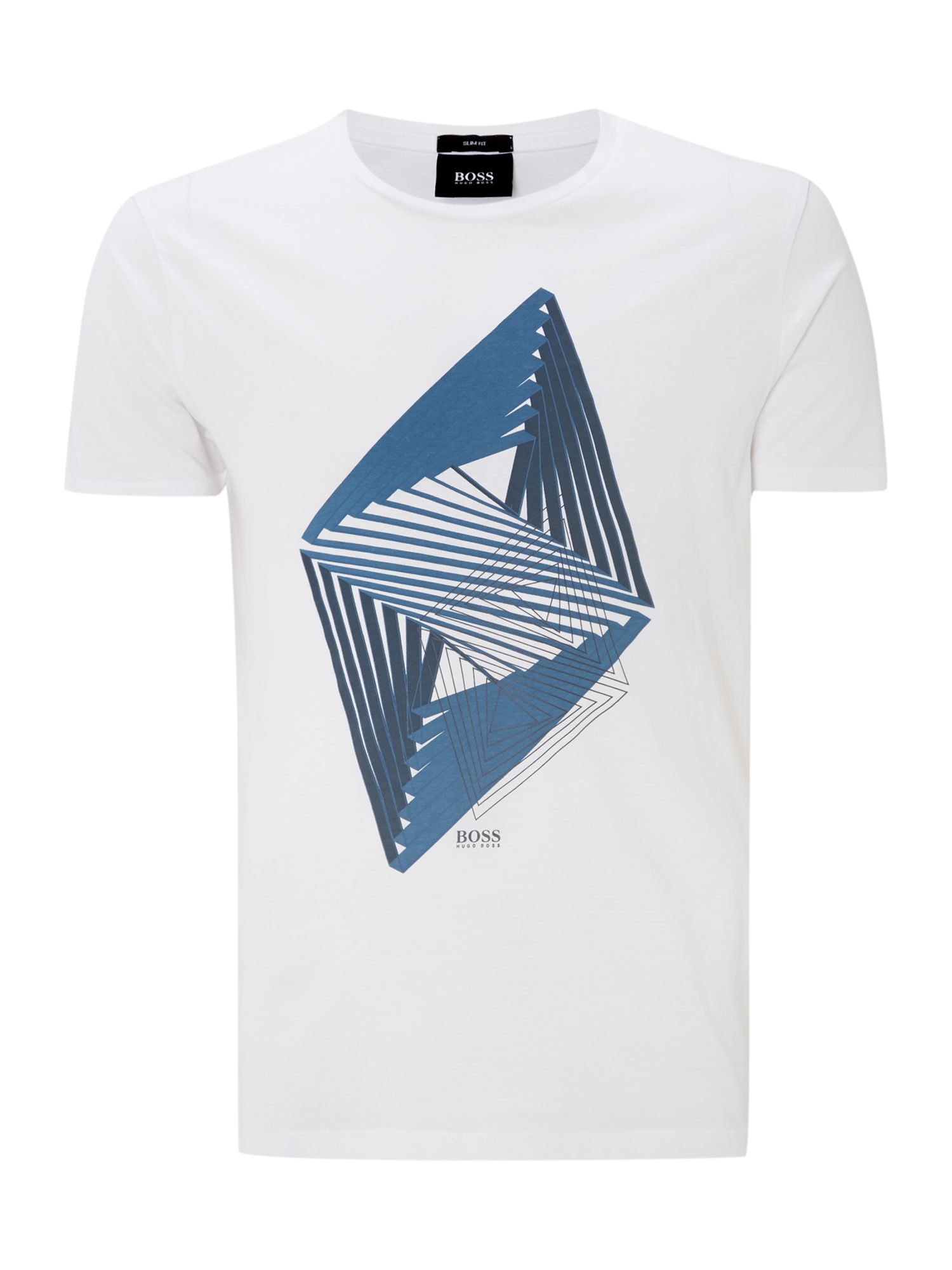 Graphic diamond print t shirt