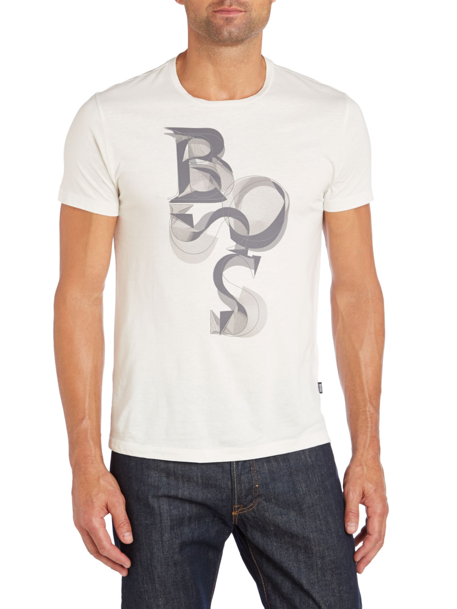 Scattered boss logo t shirt