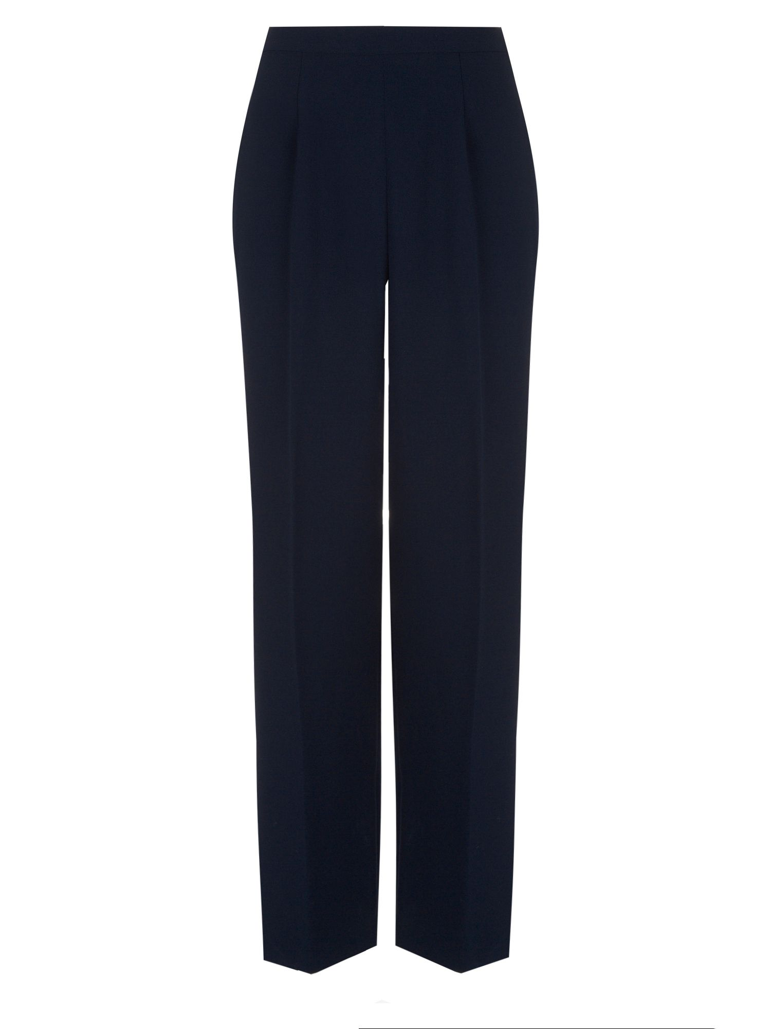 Classic shorter length navy trousers