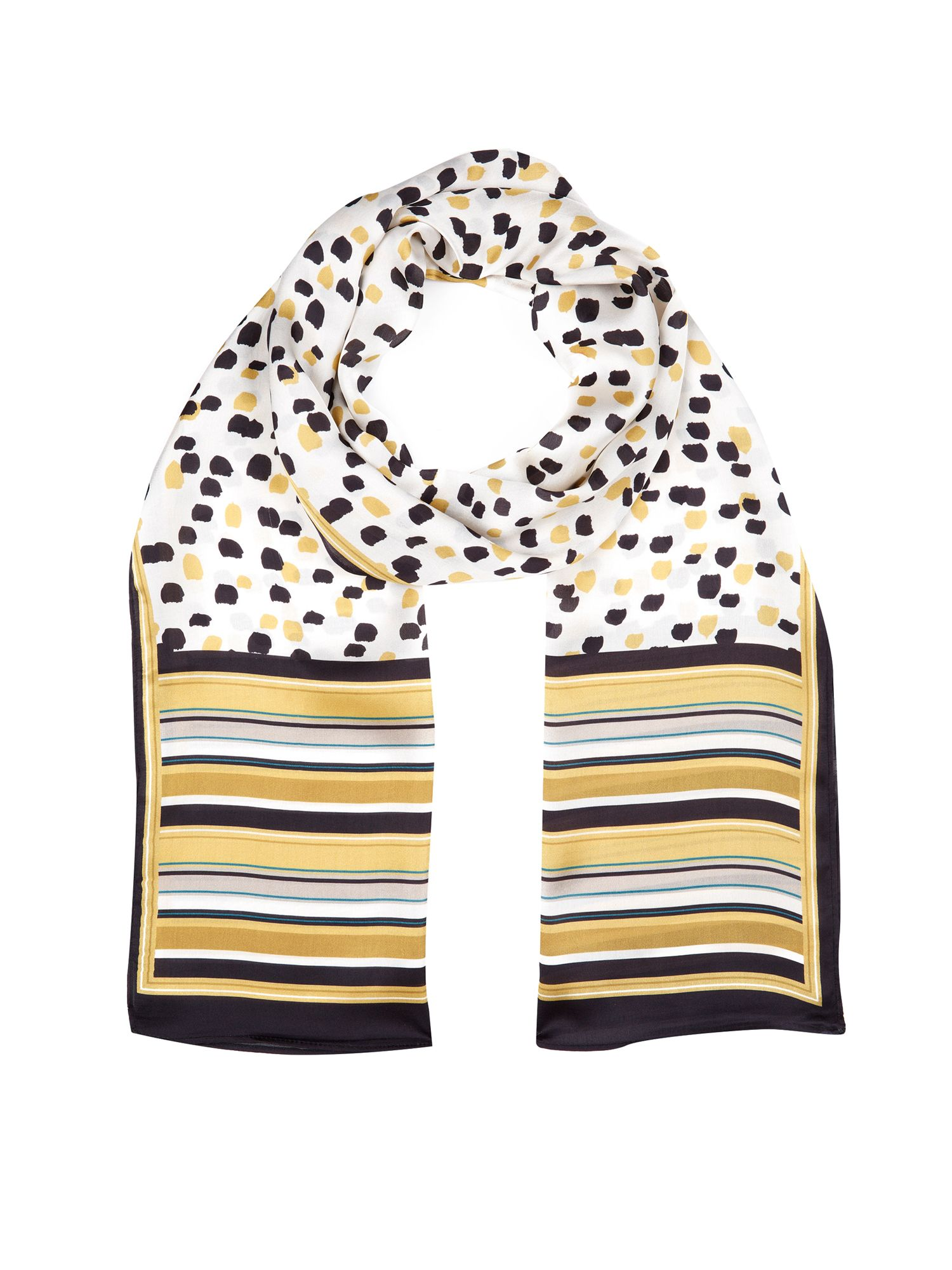 Painterly spot scarf